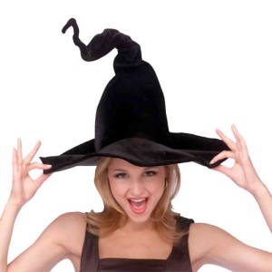 Wired Witch Hat Adult - Black / One-Size