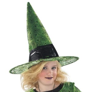 Child Fashion Witch Hat - Green / One Size