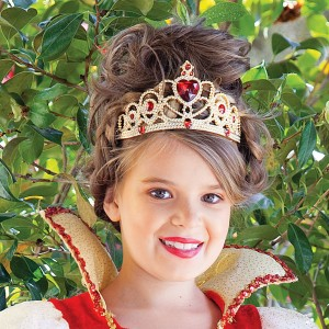 Red and Gold Princess Child Tiara - Red / One-Size