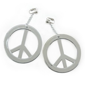 Peace Earrings - Silver / One-Size