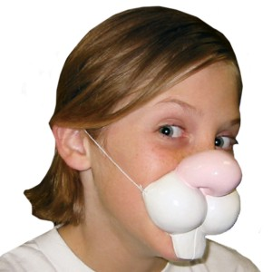 Rabbit Nose with Elastic Band - White / One Size
