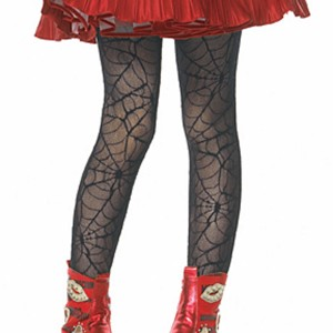 Spider Web Child Tights - Black / Small/Medium