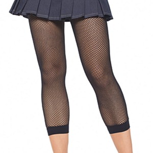 Fishnet Footless Tights Black Adult - Black / Standard One-Size