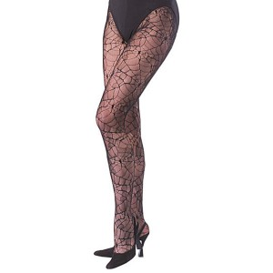 Adult Spider Web Fishnets - Black / One-Size