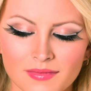 Eyelashes with Silver Glitter - Silver / One-Size