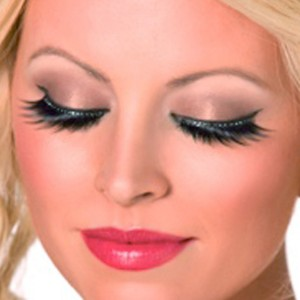 Eyelashes with Black Crystals - Black / One-Size