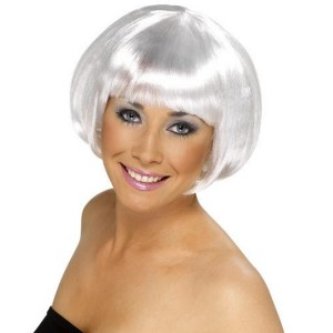 Short Bob White Wig Adult - White / One-Size