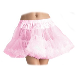 Layered Tulle Petticoat Pink - Plus - Pink / Plus