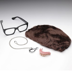 Austin Powers Deluxe Accessory Kit Adult - Brown / One Size