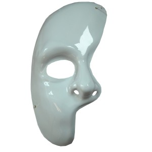 Partial Face Mask - White / One Size