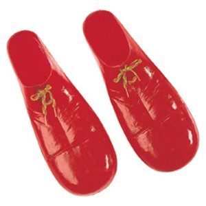 Plastic Clown Adult Shoes 15 Inch - Red