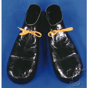 Plastic Clown Shoes - Black