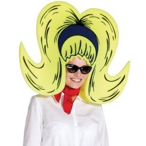 Foam Bouffant Wig/Hat - Yellow
