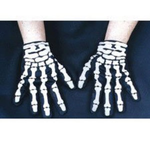 Glove Skeleton - Black / One Size