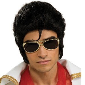 Elvis Deluxe Wig Adult - Black / One-Size