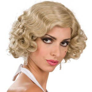 Flapper Wig Adult Blonde - Yellow / One-Size