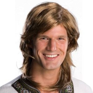 70s Guy Brown Wig Adult - Brown / One Size
