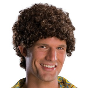 Tight Fro Brown Wig Adult - Brown / One Size