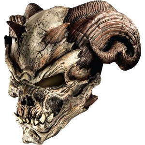 Cave Demon Mask Adult - White / One Size