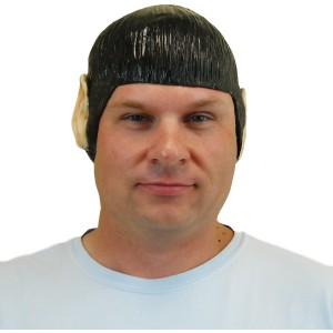 Star Trek Classic Spock Wig with Ears Adult - Black / One-Size