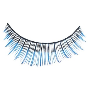 Blue Tip Eyelashes - Blue / One-Size