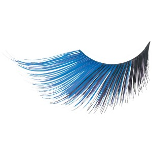 Blue/Black Extra Long Eyelashes - Black / One-Size