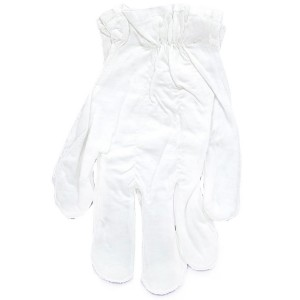 White Cotton Adult Gloves - White / One Size