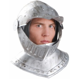 Adult Knight Helmet - Silver / One Size