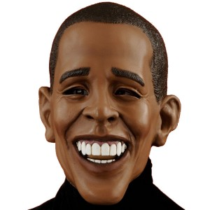 Deluxe Barack Obama Adult Mask - Brown / One-Size