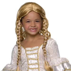 Blonde Princess Child Wig - Yellow / One-Size