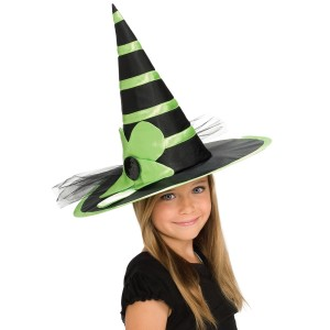 Child Green Witch Hat - Green / One-Size