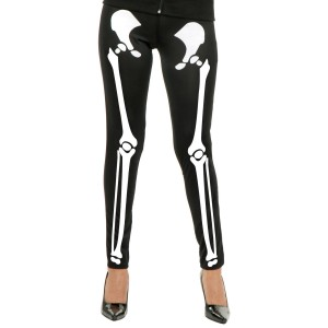 Skeleton Leggings Adult - Black / Medium/Large