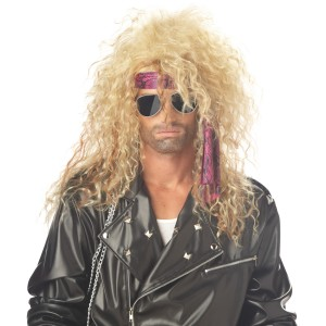 Heavy Metal Rocker Blonde Adult Wig - Yellow / One-Size