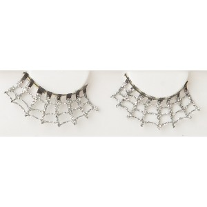 Silver Spider Web Eyelashes - Silver / One-Size