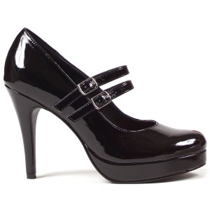 Black Jane Adult Shoes - Black / 7