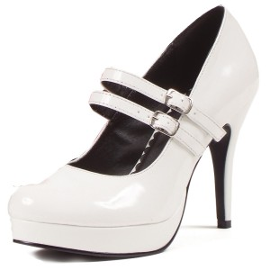 White Jane Adult Shoes - White / 12