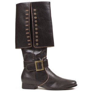 Captain Black Adult Boots - Black / Medium (10/11)