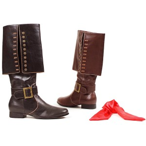 Captain Brown Adult Boots - Brown / Large (12/13)