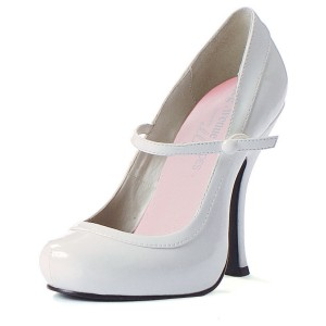 Babydoll White Adult Shoes - White / 9
