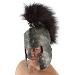Adult Spartan Helmet - Silver / One-Size
