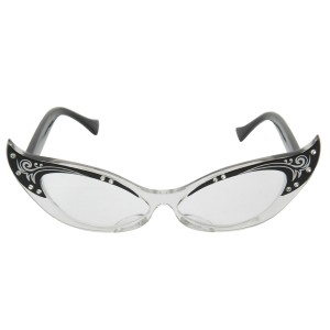 Vintage Cat Eye Adult Glasses - Black / One-Size