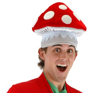 Mushroom Hat - Red / One-Size