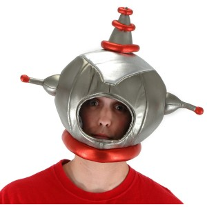 Space Man Helmet - Silver / One-Size