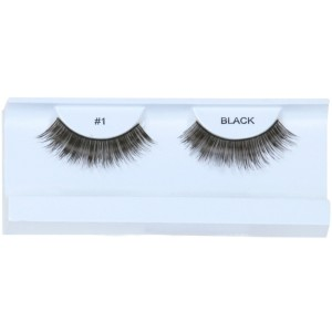 Black Eyelashes with Case - Black / One-Size