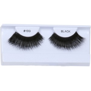 Thick and Long Black Eyelashes with Case - Black / One-Size