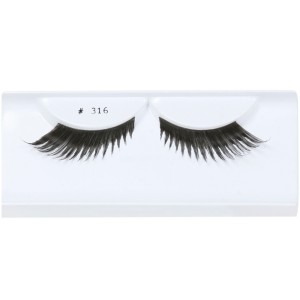 Black Feather Eyelashes with Case - Black / One-Size