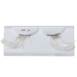 White Feather Eyelashes with Case