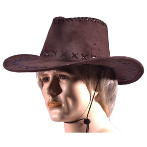 Cowboy Hat Adult - Brown / One-Size