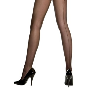 Sheer Backseam Pantyhose Black - Adult - Black / One-size