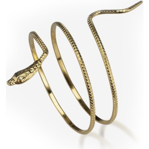Metal Snake Armband - Gold / One-Size